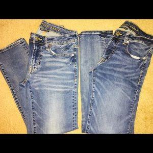 Bundle of American Eagle jeans 28x32 Slim Straight